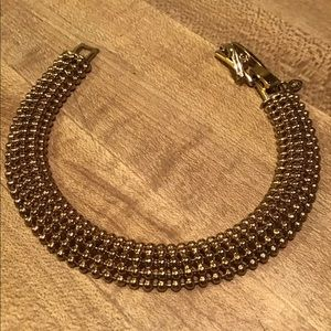 Premier Designs Gold Open Knit Bracelet